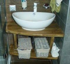 Мебель для ванной комнаты ИП Дук С.В. Полка консольная под мойку, массив дуба