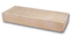 Элементы ограждений и лестниц BRUK-BET Ступень Травертин 40x15x100 (серый камень)