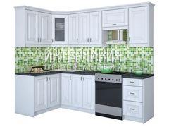 Кухня Кухня Интерлиния Мила Шале белое дерево (1.4x2.5)