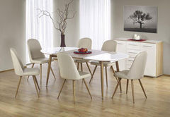 Обеденный стол Обеденный стол Halmar Edward (белый/дуб медовый)
