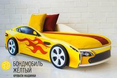 Детская кровать Детская кровать Бельмарко Бондмобиль желтый