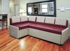 Кухонный уголок, диван  Кухонный диван Оскар (крем-бордо)