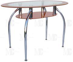 Обеденный стол Обеденный стол Metsteklo GT305 оранжевый