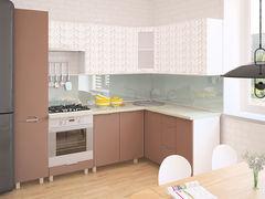 Кухня Кухня Интерлиния Мила Арт-1 Шоколад-Шоколад Арт (1.4x1.3)