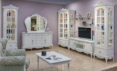 Мебель Черноземья Барокко (белый с перламутровой патиной) г