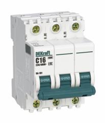 DEKraft Автоматический выключатель ВА101-3P-063A-C (11084DEK)