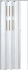 Межкомнатная дверь Дверь-гармошка Pioneer Гласс белый дуб ДО