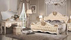 Спальня ФорестДекоГрупп Амели 5 С1 с туалетным столом вариант 1 (орех, белая)