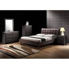 Кровать Кровать Halmar Samara (темно-коричневая)