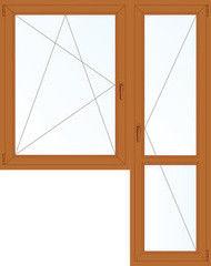 Деревянное окно Дуб 1440*2160, 1с, П/О+П