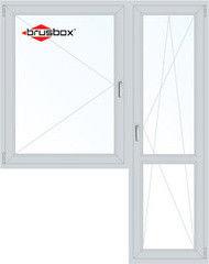 Окно ПВХ Окно ПВХ Brusbox 1440*2160 1К-СП, 5К-П, П+П/О