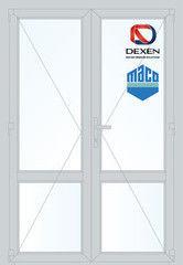 Дверь ПВХ Дверь ПВХ Dexen 1300*2100 двустворчатая Модель 58