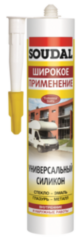 Герметик Герметик Soudal Силикон универсальный 300 мл (белый)