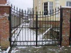 Белит Ворота с коваными элементами Вариант 18