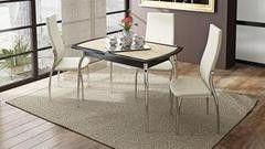 Обеденный стол Обеденный стол ТриЯ Стамбул ПО с хромированными ножками