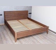 Кровать Кровать Драўляная майстэрня из массива дуба К-03 Chocolate