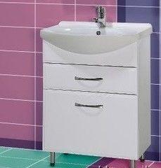 Мебель для ванной комнаты Акваль Тумба Виола 65 (с корзиной для белья)