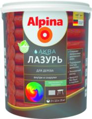 Лак Лак Alpina Аква Лазурь для дерева (Черный, 0,9 л/0,90 кг)
