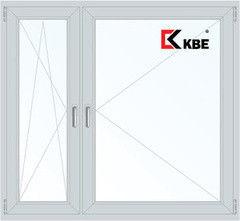 Окно ПВХ KBE Эксперт 1460*1400 1К-СП, 5К-П, П/О+П