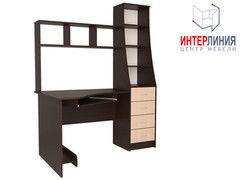 Письменный стол Интерлиния СК-004 Дуб венге+Дуб молочный