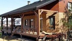 Строительство домов Дом с мансардой СтройСпецПартнер Коттедж в п.Раубичи