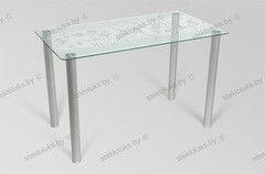 Обеденный стол Обеденный стол Стеклолюкс С 7-03 Бьянка Иней
