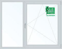 Окно ПВХ Окно ПВХ Salamander 1700*1400 2К-СП, 5К-П, Г+П/О