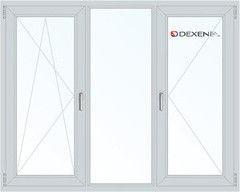 Окно ПВХ Окно ПВХ Dexen 1800*1400 1К-СП, 4К-П, П/О+Г+П
