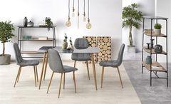 Обеденный стол Обеденный стол Halmar NEXT (стекло/дуб медовый)