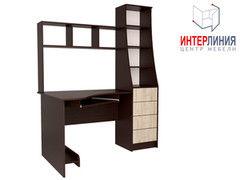 Письменный стол Интерлиния СК-004 Дуб венге+Дуб серый