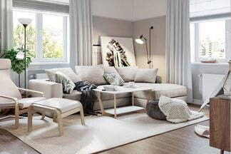 Скандинавский стиль с классическими нотками: посмотрите на дизайн-проект этой двухкомнатной квартиры