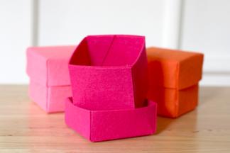 Выходные с пользой: коробочки для хранения из  фетра своими руками
